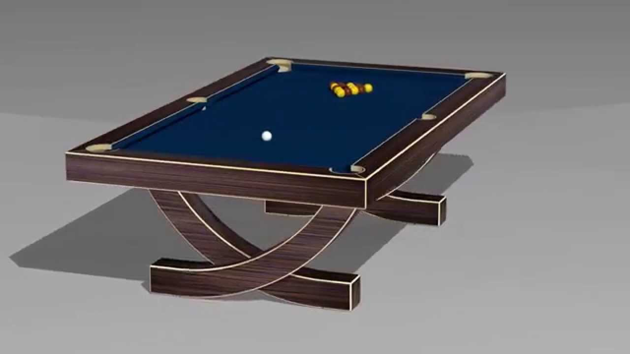 3D animation of the \'Arc\' Pool Table by Designer Billiards - YouTube