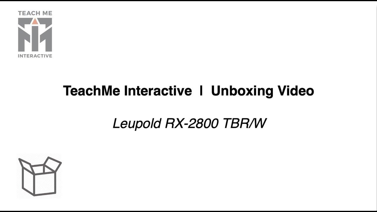 Leupold RX-2800 TBR/W Laser Rangefinder Unboxing