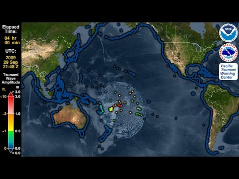 Tsunami Forecast Model Animation: Samoa 2009