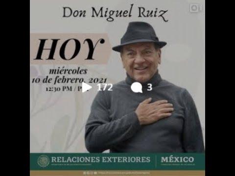 Conversacion con el escritor Don Miguel Ruiz 10 de febrero