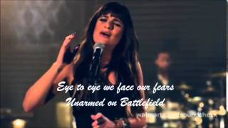 Lea Michele-Battlefield ~Lyrics On Screen~