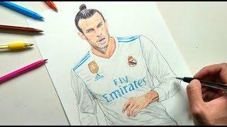 Gareth Bale Pen Drawing - Real Madrid
