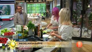 Medelhavsbuffé med smaker från Grekland - Nyhetsmorgon (TV4)
