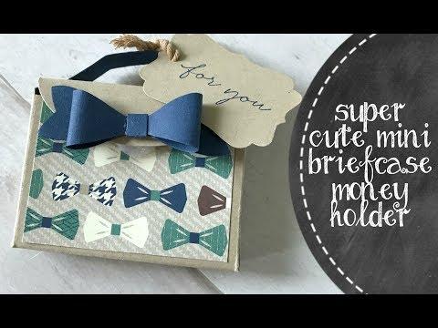 Super Cute Mini Briefcase Money Holder feat  True Gentlemen Designer Paper