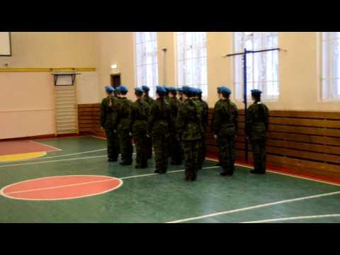 Конкурс Смотра строя и песни 2014 Команда школы1268 Голубые береты.