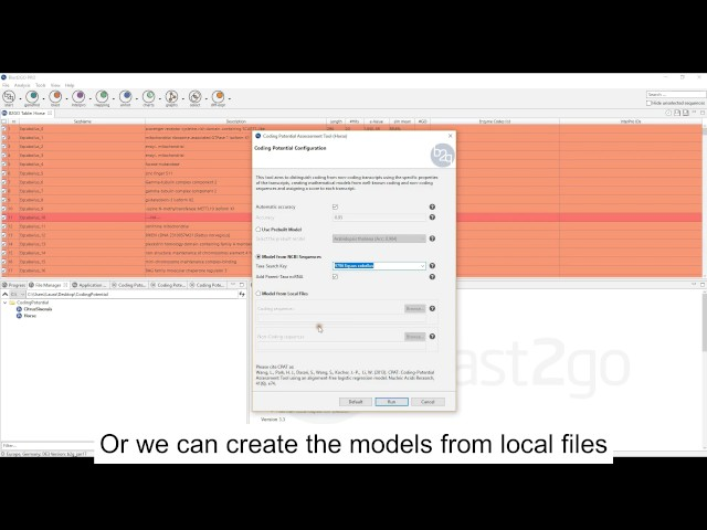 Coding Potential Assesement Tool with Blast2GO