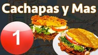Cachapas y Mas : Delicious Plantain Sandwich