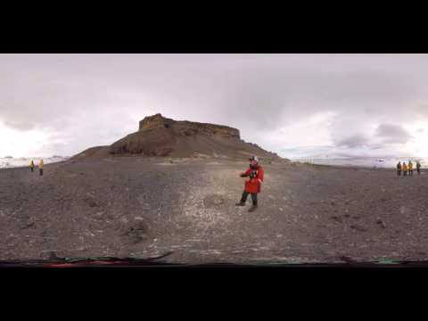 Geologist & Glaciologist Colin Souness at Brown Bluff, Antarctica (360° VR)