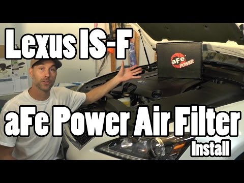 Lexus ISF aFe air filter install howto