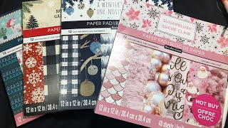 🎉 🎉🎉New Xmas Hot Buy Paper Pads @ Michaels & Flip Thru🎉🎉🎉