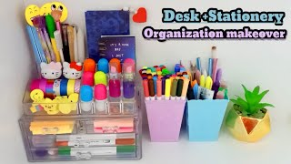 Desk + stationery organization makeover / Tonni art and craft ☺️