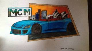 iDraw: How to draw the Mighty Car Mods Honda S2000