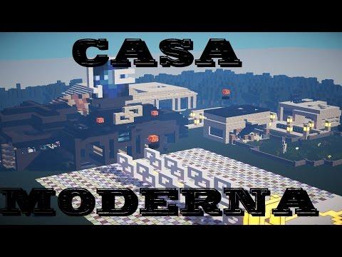Minecraft casa moderna enorme gigante descargar 1 7 for Casa moderna gigante minecraft