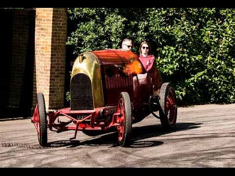Fiat S76 1911 28.4 litre. Start up and driving Sounds.