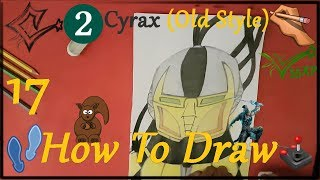 ✍ How To Draw 17 🌟 Cyrax (Old Style) | Easy 💫 Mortal Kombat