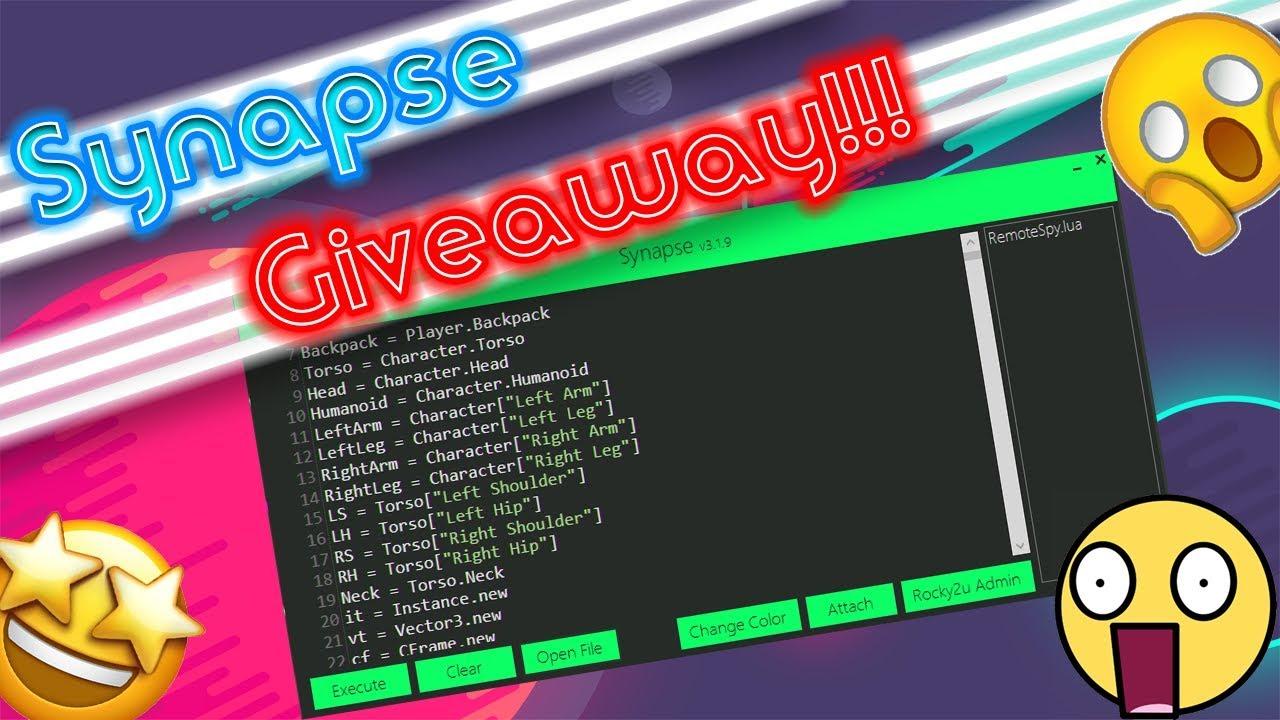Roblox Exploit Synapse Giveaway | Full Lua Script Executor