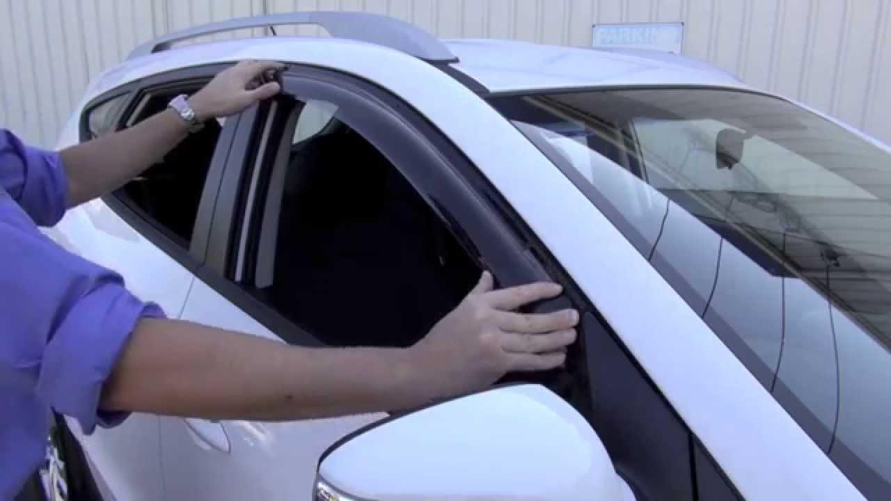Slimline Weathershield Installation Hyundai Ix35 Youtube