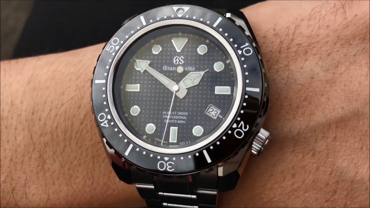 Tag Heuer Uk >> Hands on | Grand Seiko Watch Hi-Beat 36000 Diver Limited ...