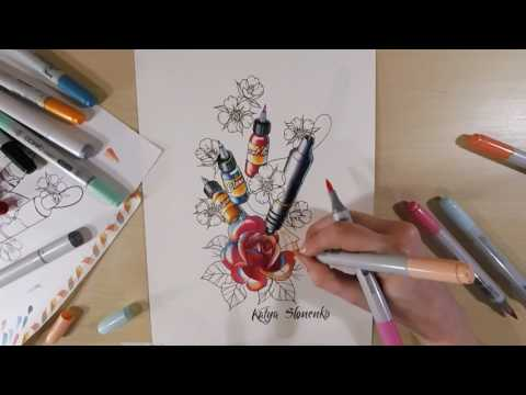 Creation of a newschool tattoo design