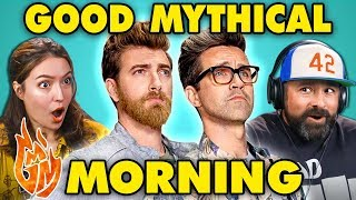 Adults React to Good Mythical Morning (GMM)