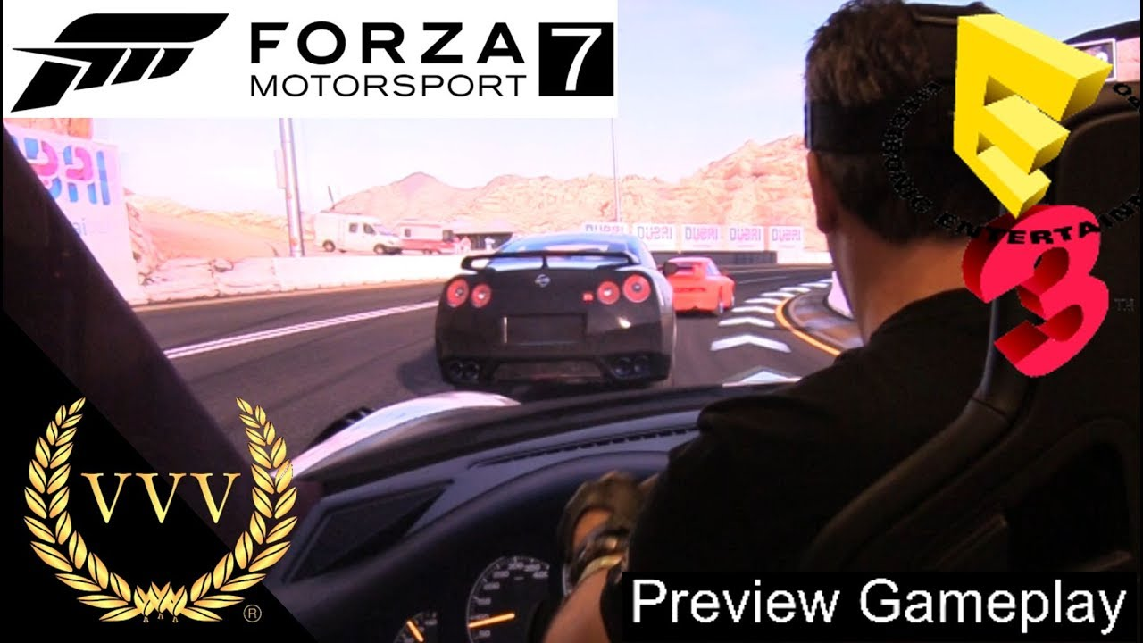 Forza Motorsport 7's recommended PC specs and wheel
