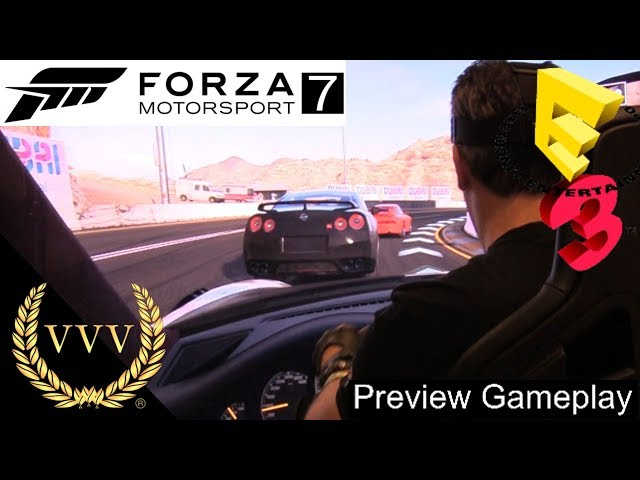 Forza Motorsport 7 with a wheel E3 2017