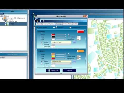 KML Creator. Convierte (GIS ESRI) Shapefile a KML (Keyhole Markup Language) de Google Earth