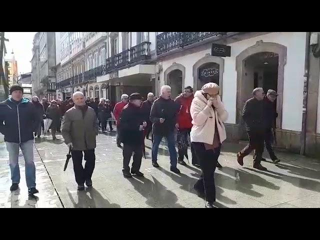 Manifestación de jubilados en Lugo