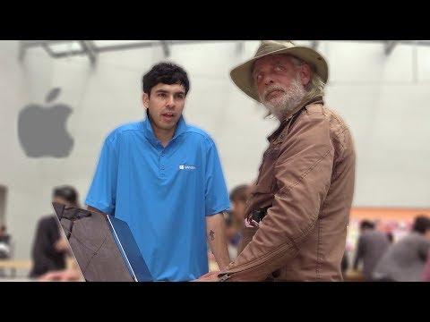 Microsoft Employee In The Apple Store Prank!
