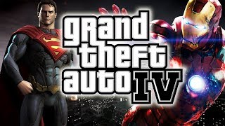 GTA 4: SuperMan VS IronMan VS HULK Mod !