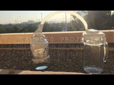 Distillation of SeaWater Using Solar Energy