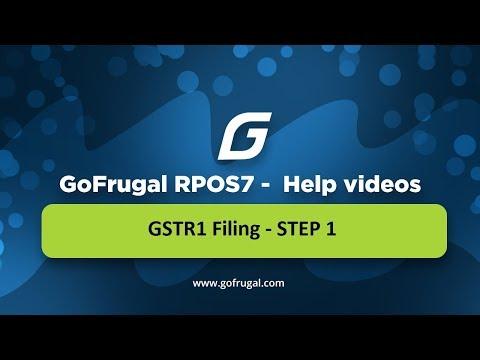 GoFrugal RPOS7 - GSTR1 Filing - STEP 1