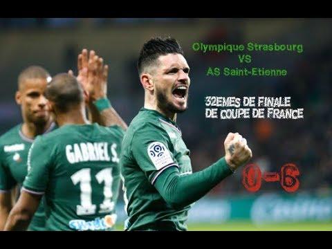 Olympique de Strasbourg (R2) - AS Saint Etienne (L1) 0-6 Le résumé
