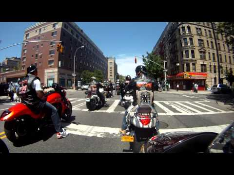 Phat Boyz Riding Through Harlem NY For Big Shots Bike Blessing 5-20-12