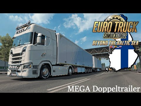 ets2 baltic sea dlc mit dem mega doppeltrailer durch. Black Bedroom Furniture Sets. Home Design Ideas