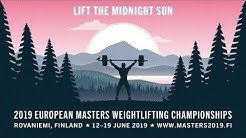 2019 European Masters Weightlifting Championships - Day 1