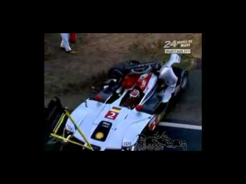 Audi R15 TDI big crash le mans 2009 (German)