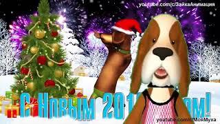 ZOOBE зайка Классное Поздравление с Новым 2018 Годом Годом Собаки