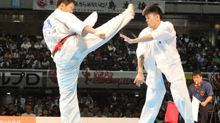 The 46th ALL JAPAN KARATE TOURNAMENT Men 4th round Yuji Shimamoto v...