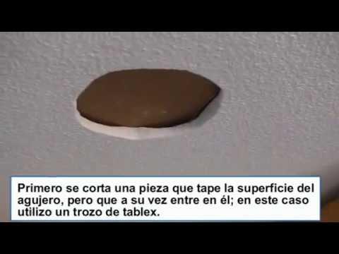 C mo tapar un agujero en un falso techo de escayola al quitar un foco o hacer una reparaci n - Como hacer un falso techo ...