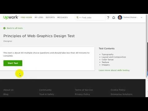 Upwork Principles Of Web Graphics Design Test Youtube