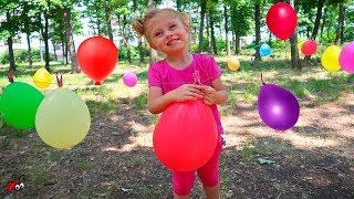 Balonase Multicolore cu SURPRIZE   Numeste Culoarea,Sparge,gaseste Surpriza!
