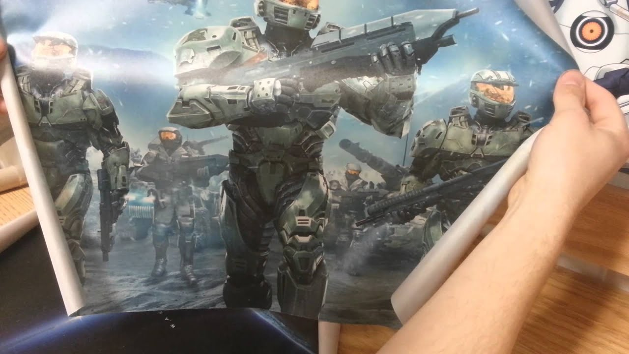 Halo Silk Posters Unboxing Youtube