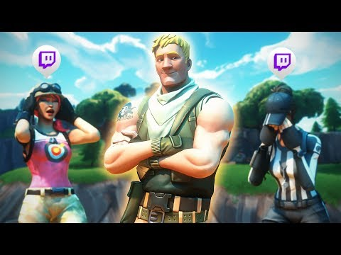 Killing Twitch Streamers in PRO SCRIMS with Reactions - Fortnite Moments