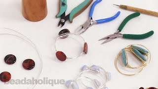 How to Make Wire Wrapped Bangles with Gemstone Focals