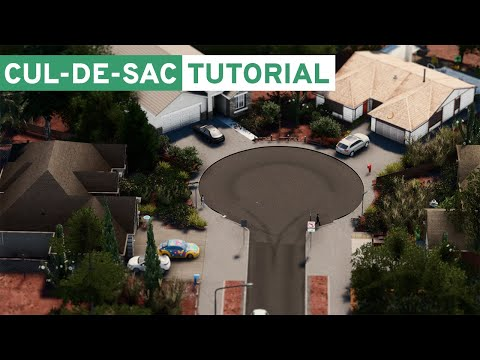 How to Make a Realistic Cul-De-Sac in Cities: Skylines!