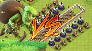 GOBLIN VS TROLL BASE | Clash Of Clans