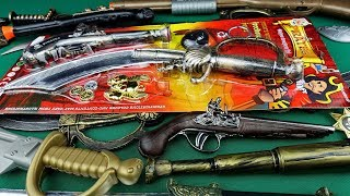 Pirates of The Carribean Toy Weapons! Pirate Toy Pistols Swords and Equipment