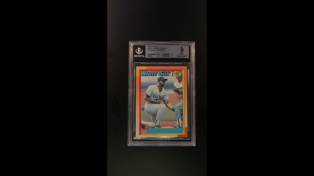 1990 Topps Frank Thomas Rookie Rc No Name On Front 414 Bgs 9 Mint Pwcc