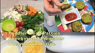 Toddler Vegetable patties Pie Maker Vegetarian Thermo cheekyricho video recipe ep.1,216